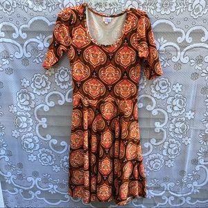 NWOT LuLaRoe Nicole style a line pattern dress
